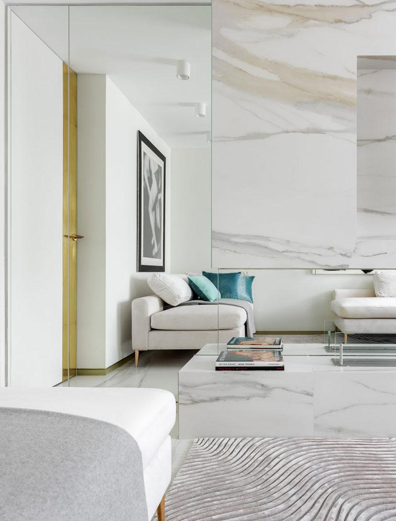 интерьер маленькой квартиры белый