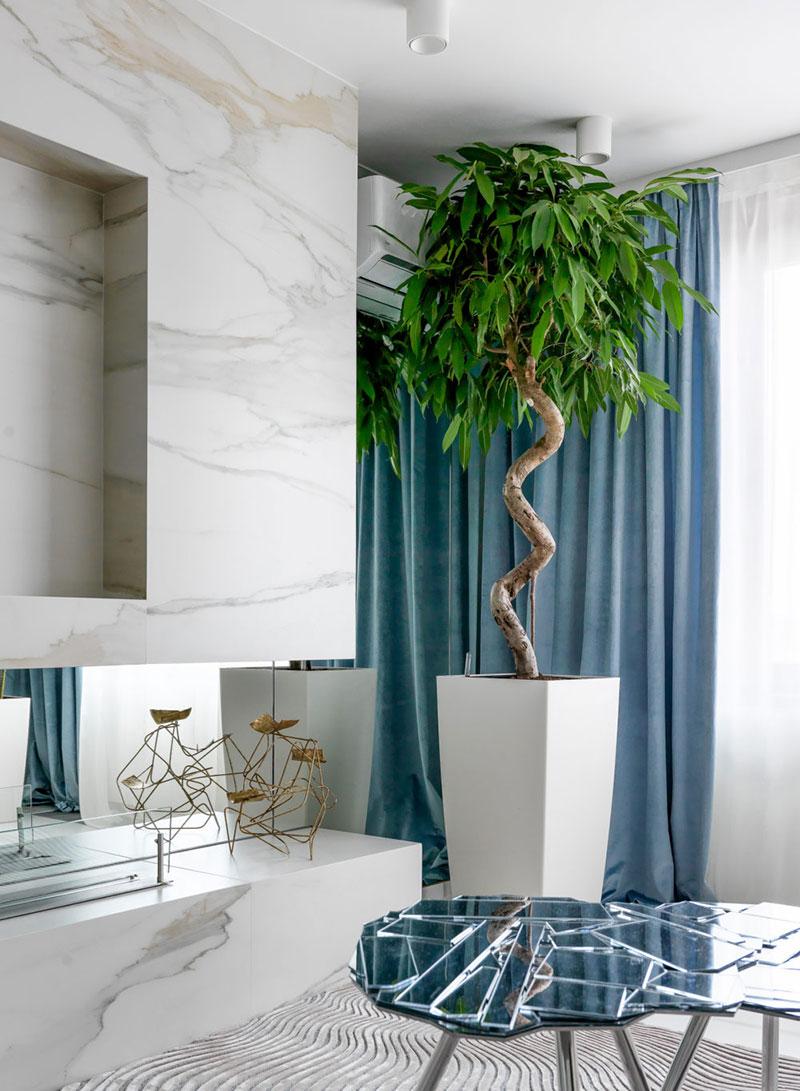 серо белый интерьер в квартире