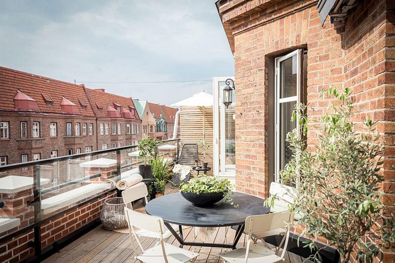 интерьер маленькой скандинавской квартиры