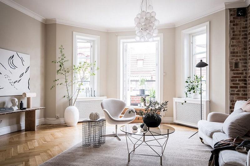 интерьеры маленьких квартир в скандинавском стиле