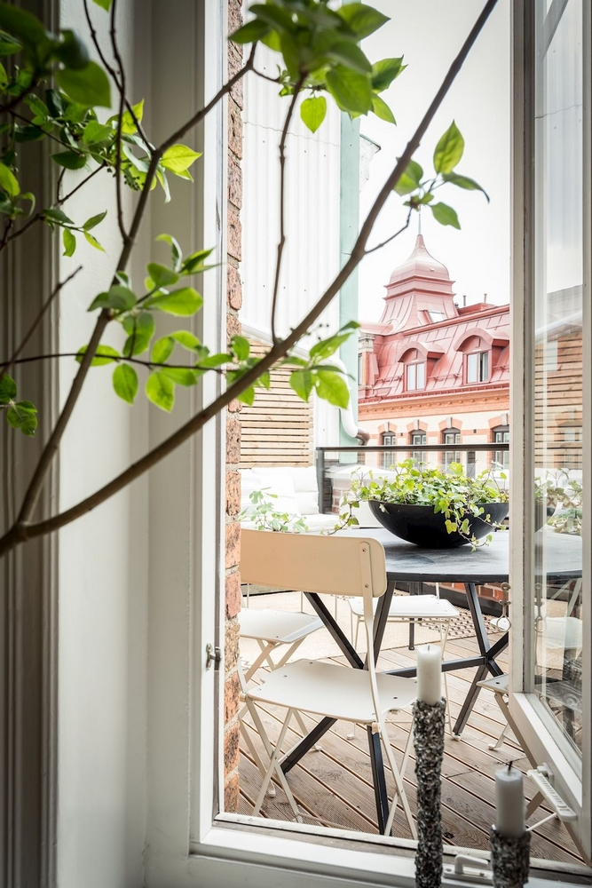 скандинавский стиль в интерьере квартиры кухни