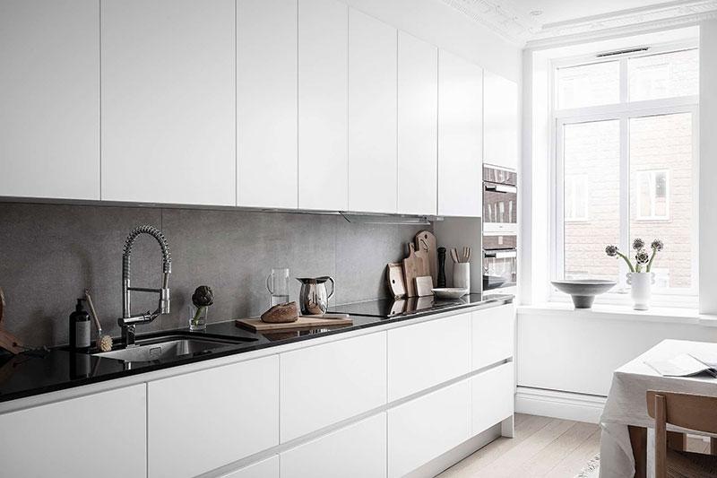 дизайн в белом цвете квартир