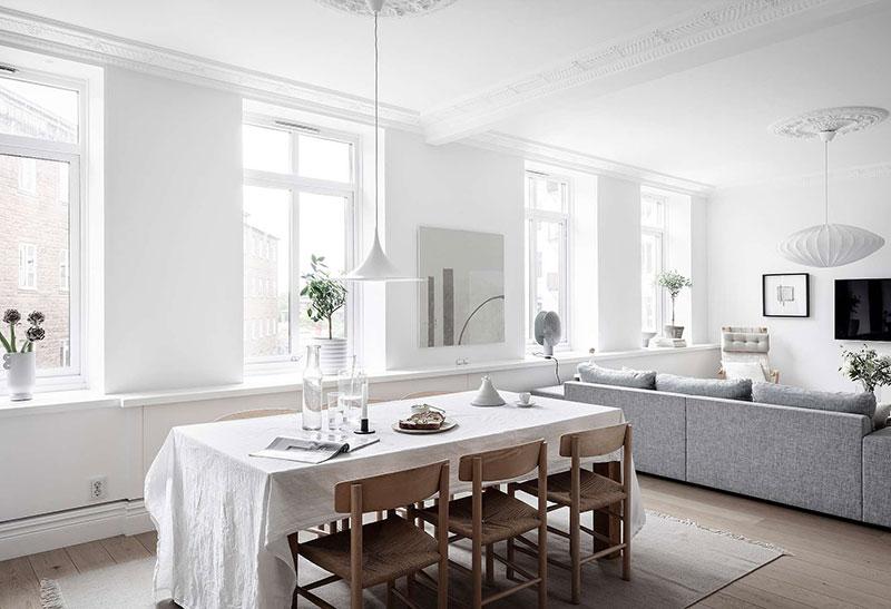 дизайн квартиры в черно белом цвете
