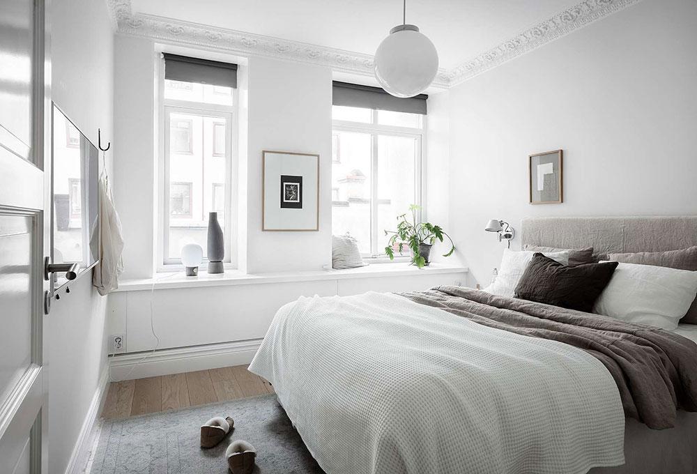 дизайн квартиры в красно белом цвете