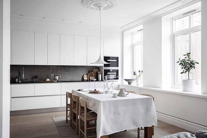 дизайн квартиры в белом цвете фото