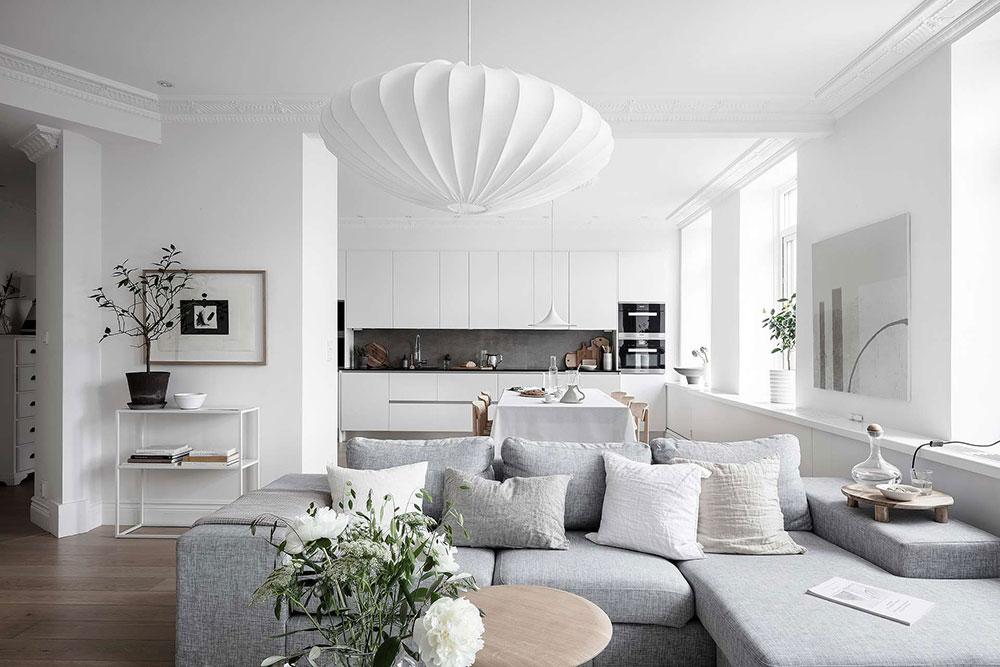 дизайн квартиры белый цвет