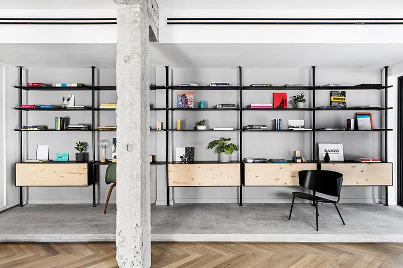 apartment interiors black and white