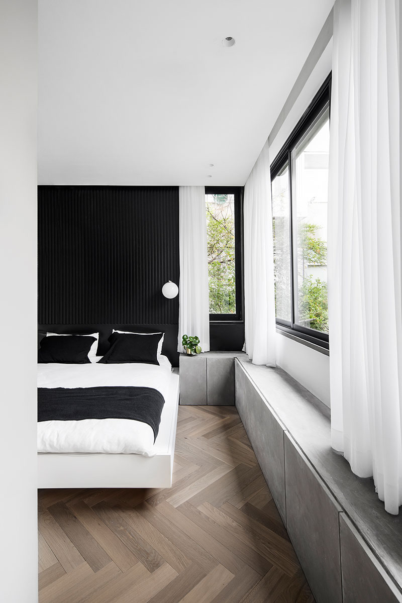 black and white apartment interiors photo