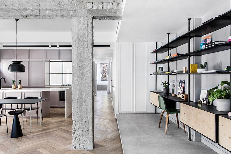 white black interior apartment