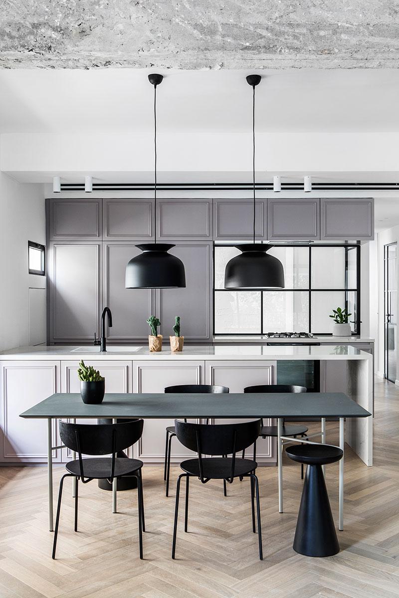 black and white apartment design photos