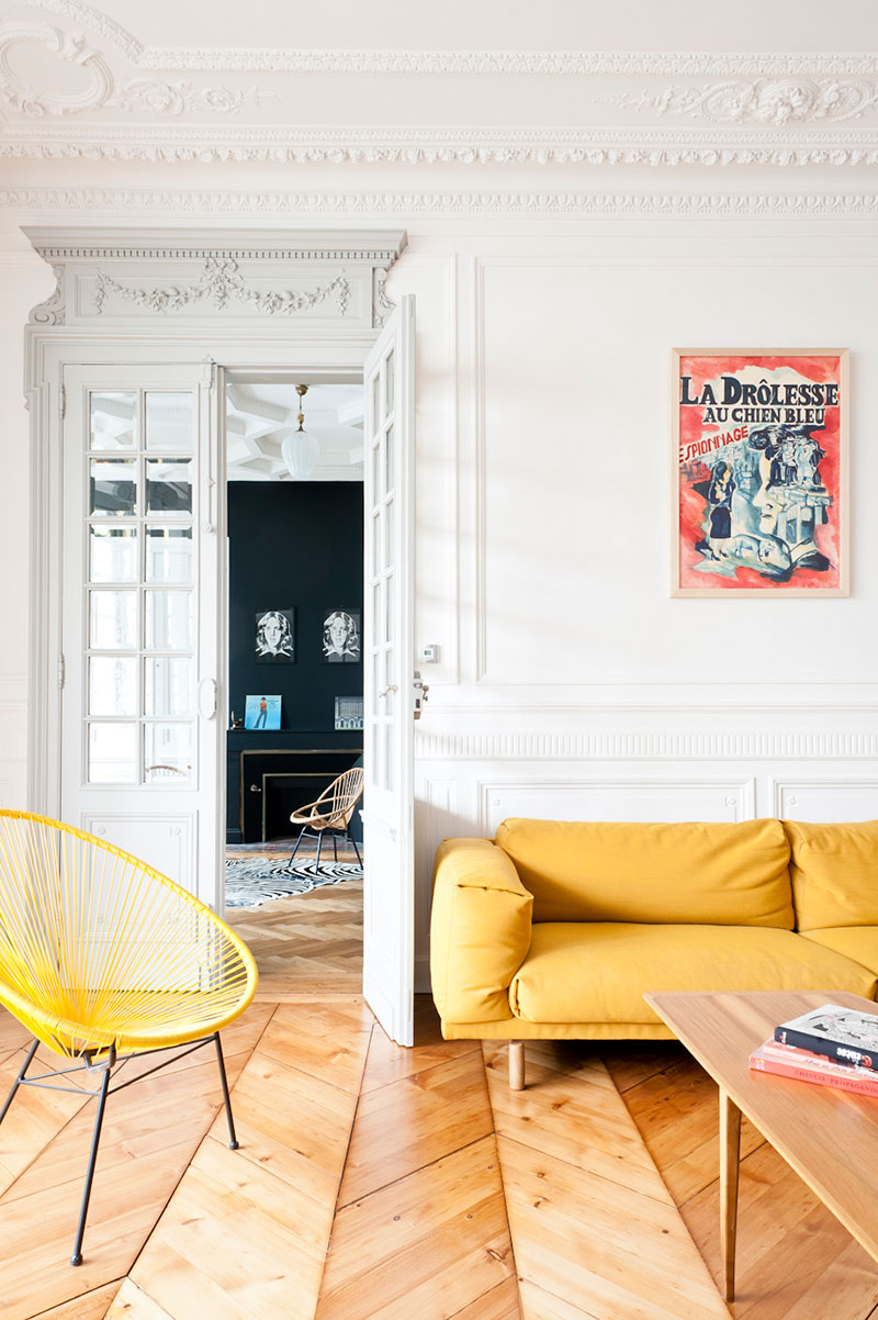Home Staging Bordeaux refined french apartment in magnificent classic building in
