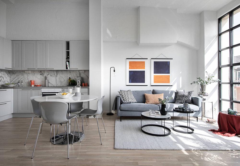 Small Scandinavian Loft 46 Sqm Photos Ideas Design