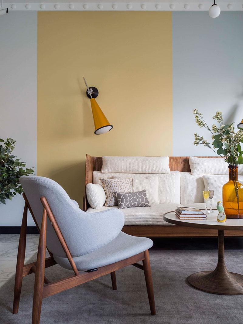 pastel colors in apartment