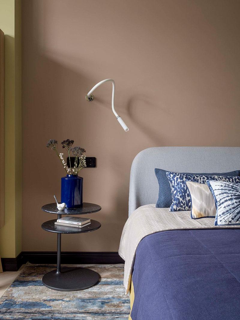 apartment interior in pastel tones