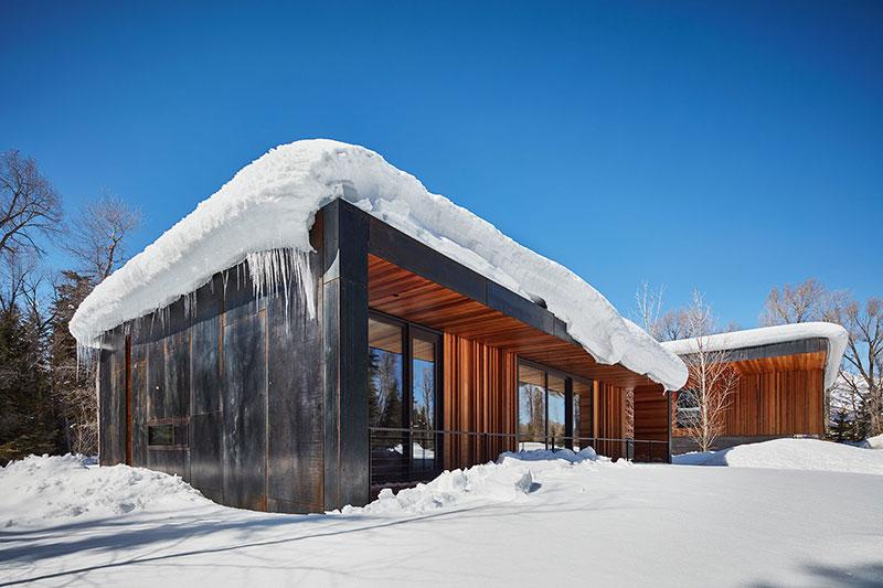 современный дом баня из дерева