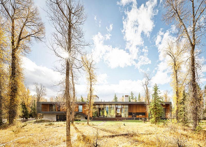 проект современного дома из дерева