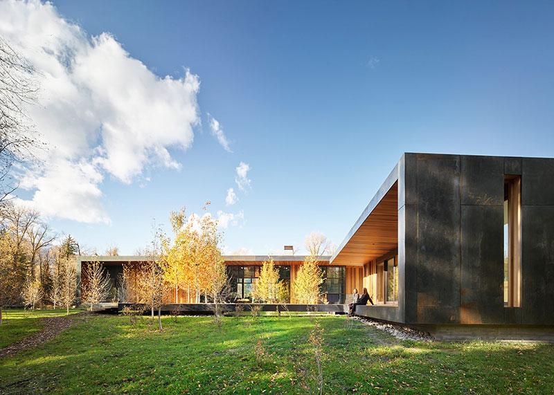 современный дом из дерева фото