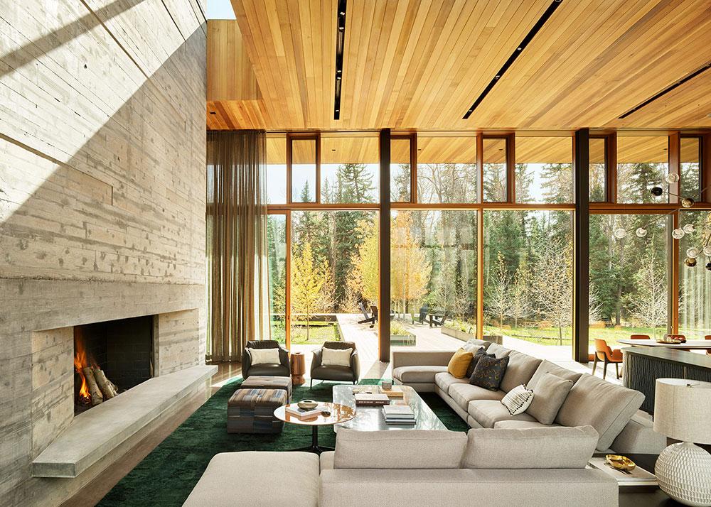 дом из дерева современный