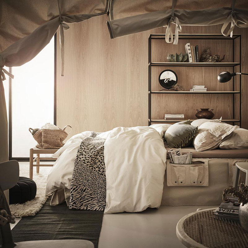 bedroom interior in natural tone