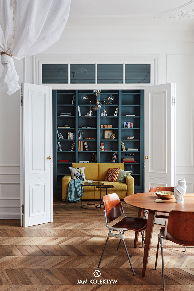 Colorful Decor Of Modern Apartment In Old House In Warsaw