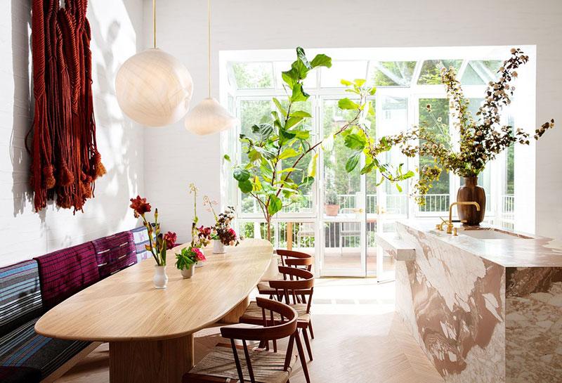 Класс! Игривый творческий интерьер дома для семьи модного дизайнера Ulla Johnson в Нью-Йорке