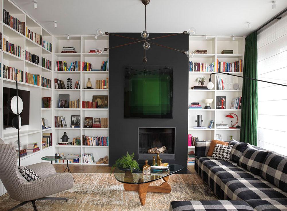 Класс! Клетчатый диван и яркие краски в дизайне современной квартиры в Москве