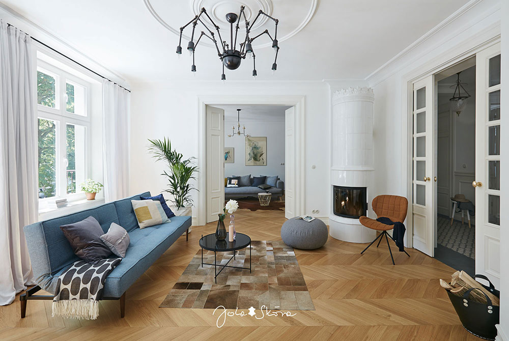 Surprising Bright Apartment With French Mood In Poland Photos Home Remodeling Inspirations Gresiscottssportslandcom