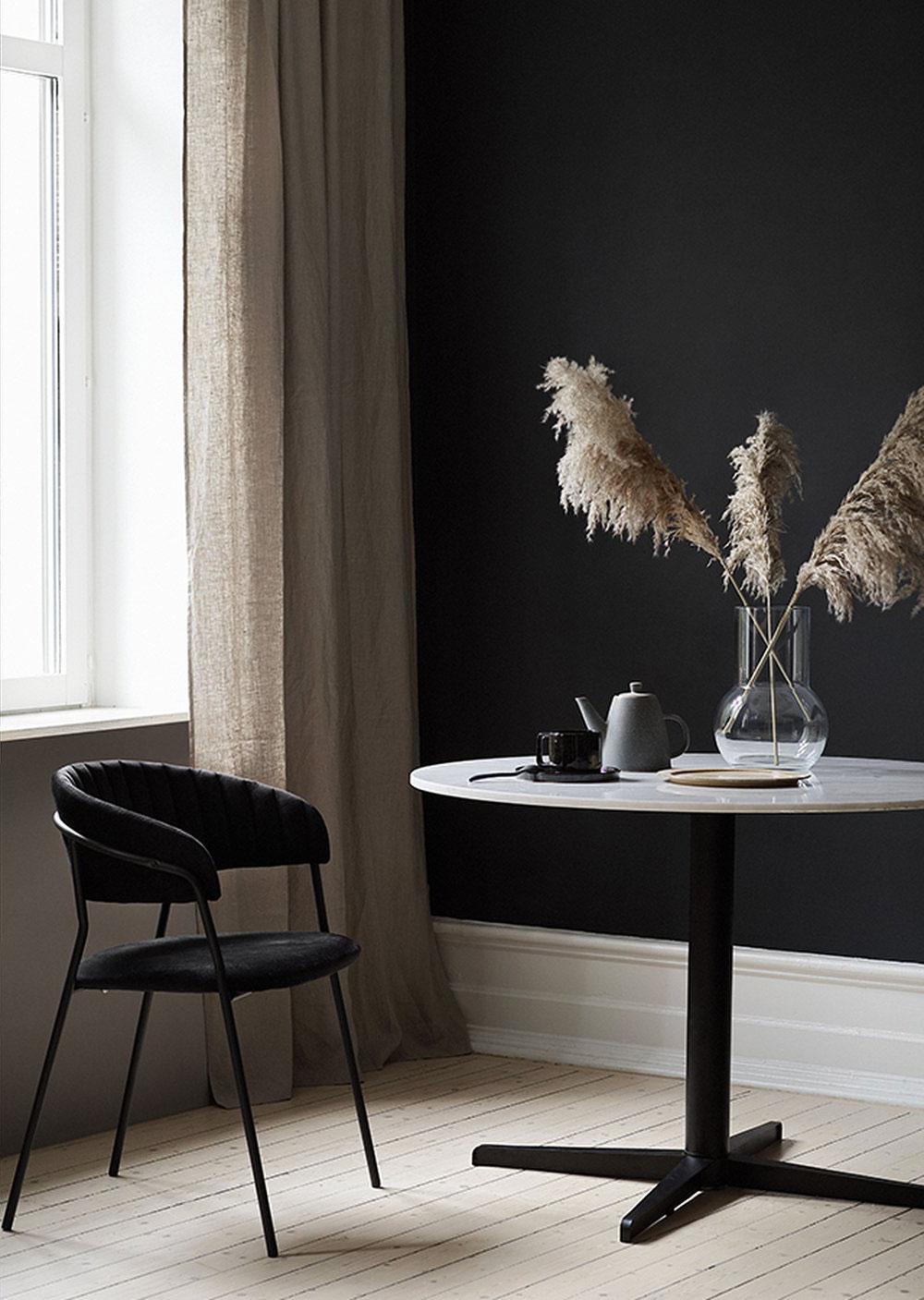 Темные скандинавские интерьеры с натуральными акцентами: Новая коллекция от Ellos Home
