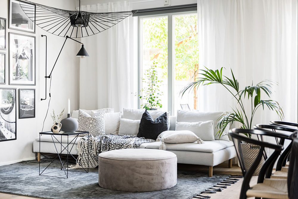 Purely Scandinavian cottage in Swedish village with cozy