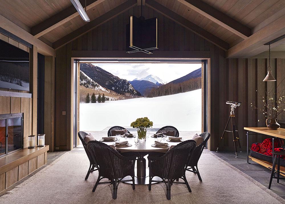 Элегантный современный дизайн горного шале в Аспене