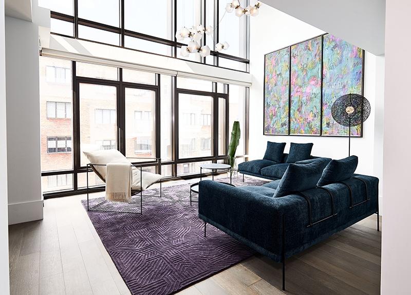 Минимализм по-американски: современная квартира в нью-йоркском небоскрёбе