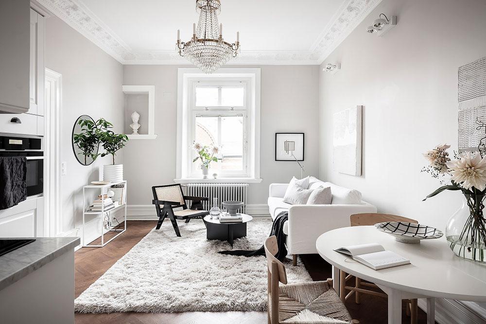 Light And Soft Design Of A Small Apartment In Goteborg 40 Sqm Foto Idei Dizajn