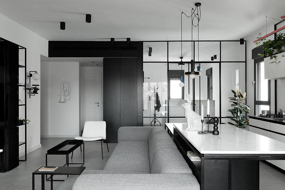 Smart Black White Apartment In Jaffa Israel Photos