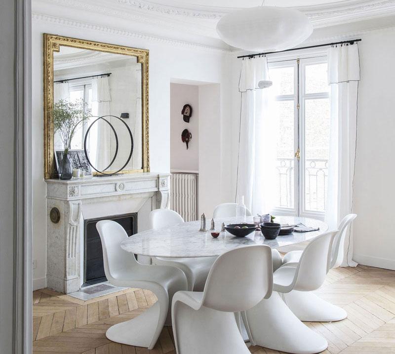 Светлая квартира с красочными акцентами в Париже