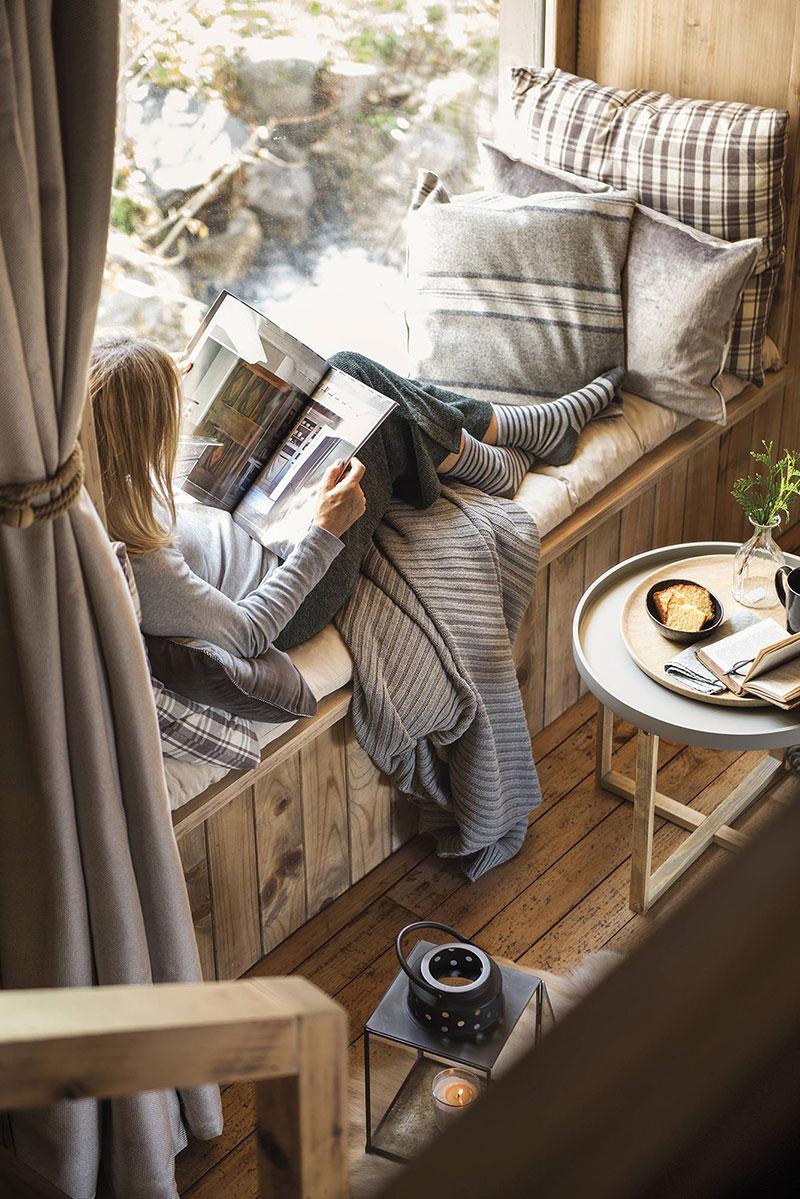 Уютная зима в горах: интерьер деревянного коттеджа в Пиренеях