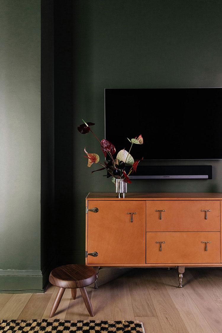Интересные цветовые сочетания в интерьере квартиры в Нью-Йорке