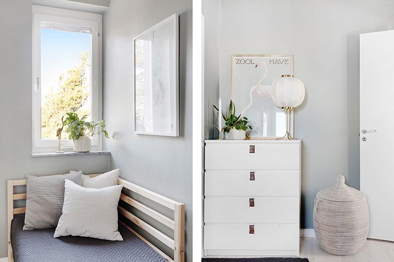 Светлая квартира с персиковыми стенами на окраине Стокгольма