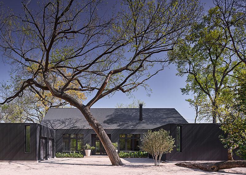 Bright Modern Home With Black Facade In, Dallas Modern Furniture