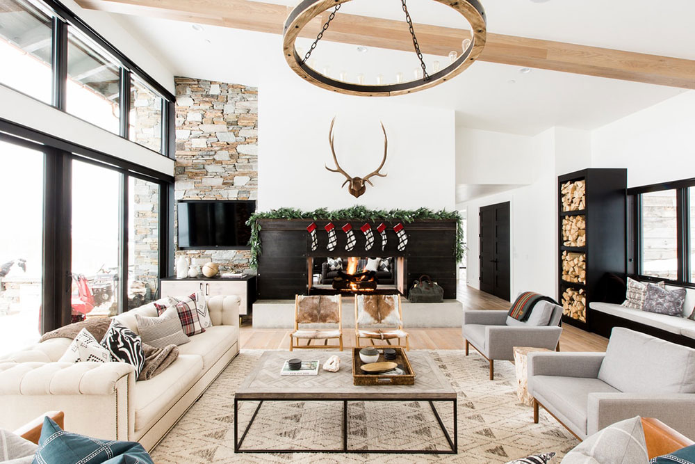 Modern Mountain House Ready For Celebrations Foto Idei Dizajn