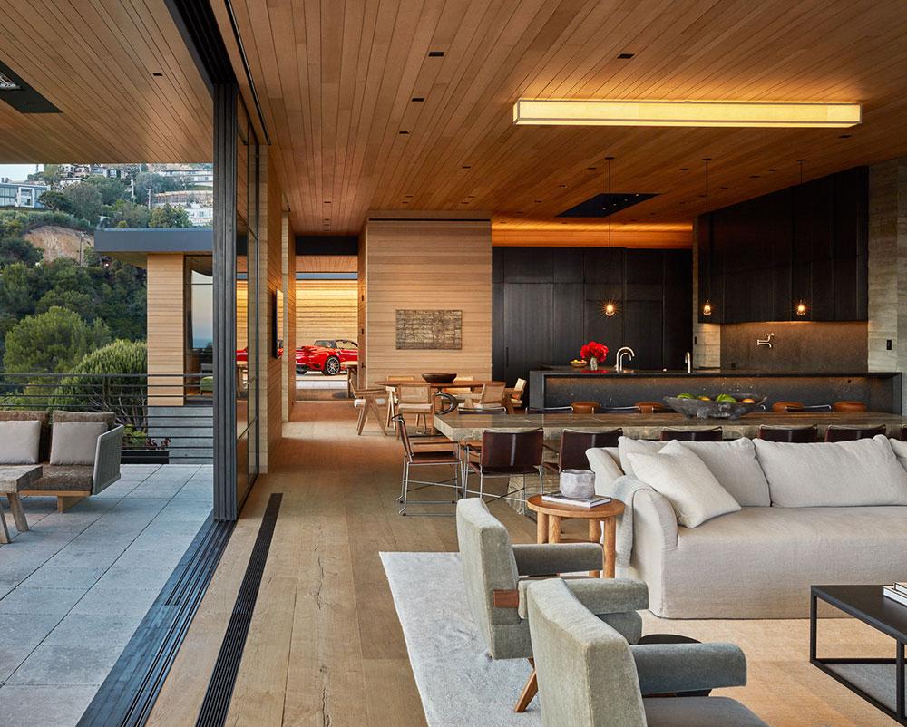Потрясающая современная резиденция в горах Санта-Моники, Калифорния