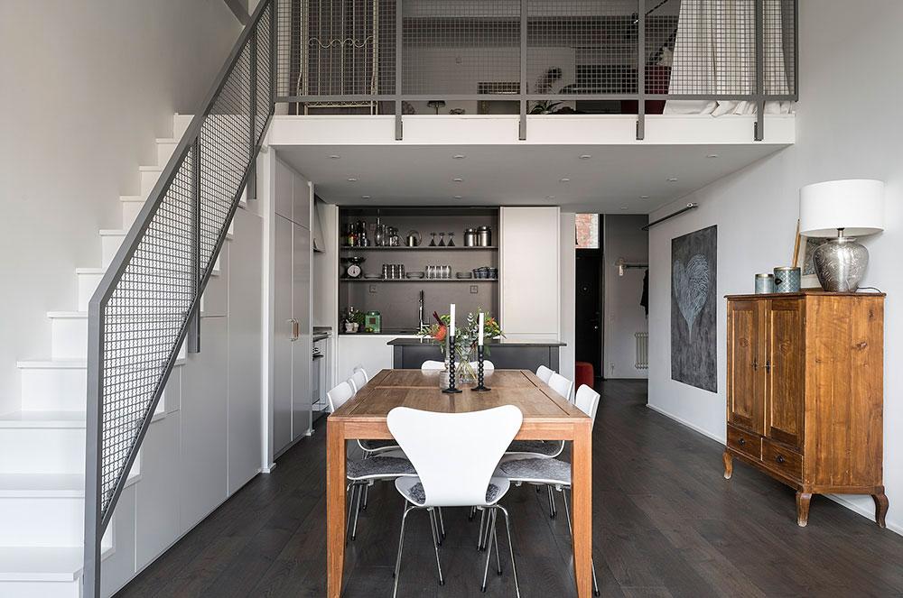 Квартира в Стокгольме с гостевой спальней на антресоли (86 кв.м)