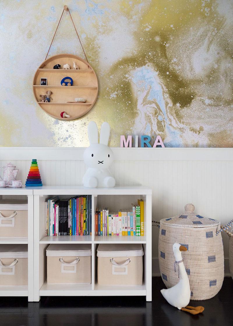 Эклектика в дизайне детской для младенца