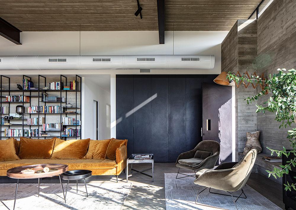 Бетонная коробка и индустриальный дизайн: современный дом в Тель-Авиве (200 кв. м)