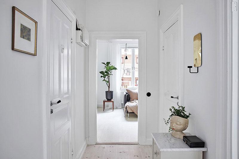 Интерьер как чистый лист: светлая квартира в Гётеборге (64 кв. м)