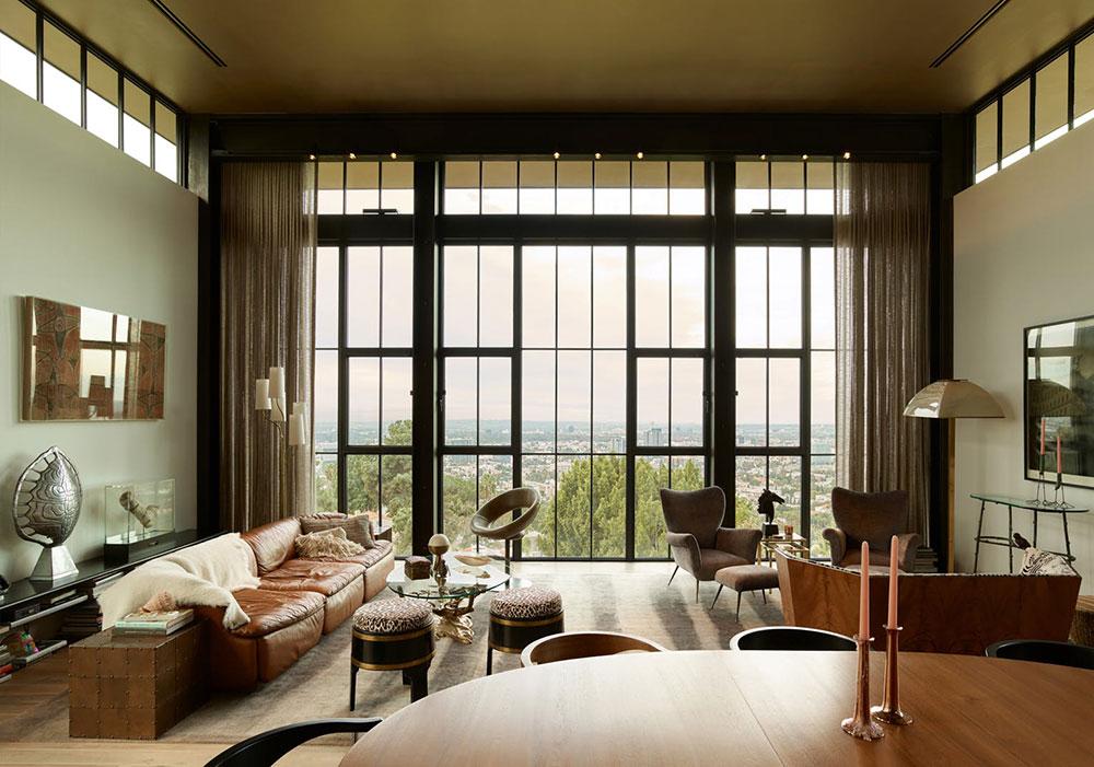 Впечатляющая современная резиденция на холме в Лос-Анджелесе