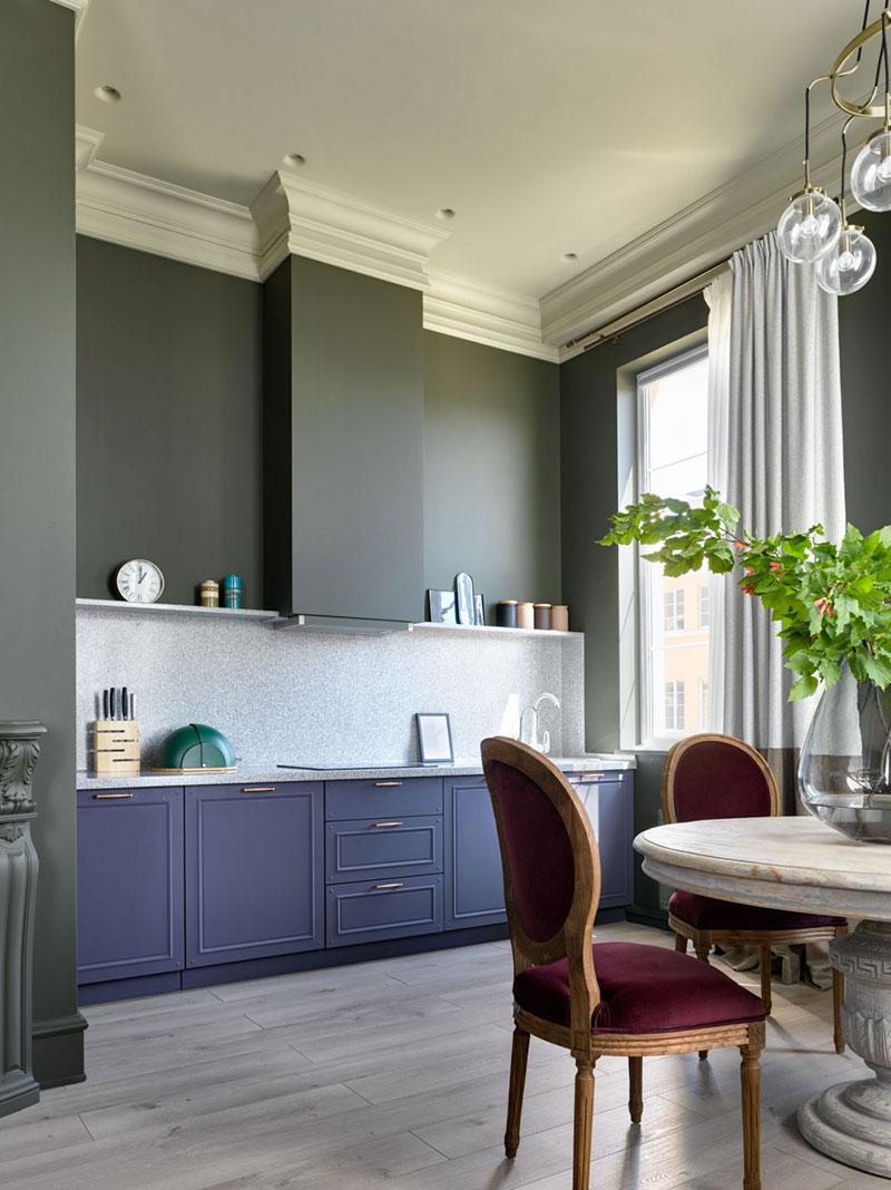 Стильный интерьер квартиры для мамы в Москве (43 кв. м)