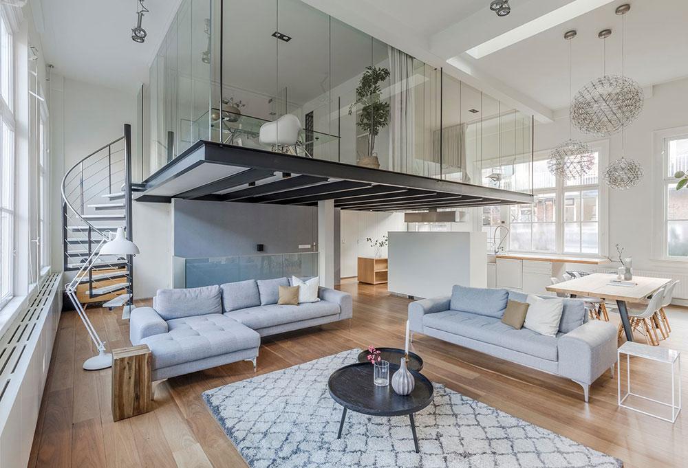 Minimalist Loft With Mezzanine And