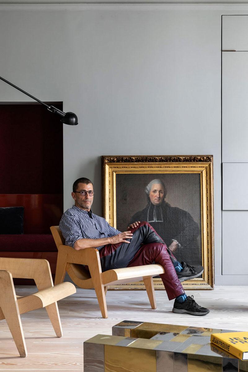 Стильная квартира в Париже от итальянского дизайнера Федерико Мазотто