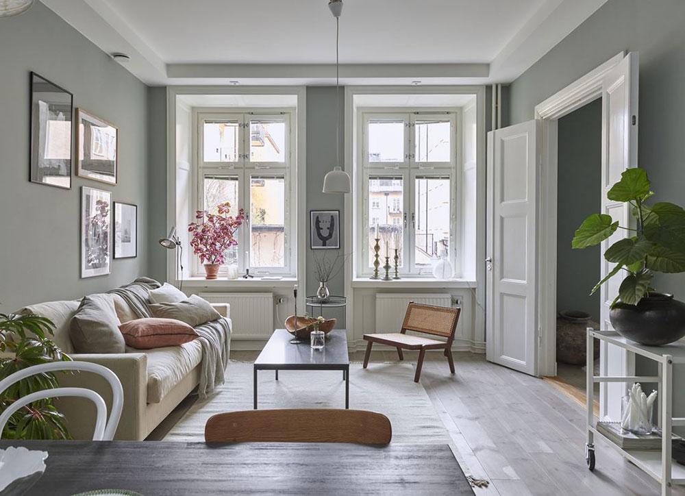 Beautiful Scandinavian Apartment With Green Walls 53 Sqm Photos Ideas Design