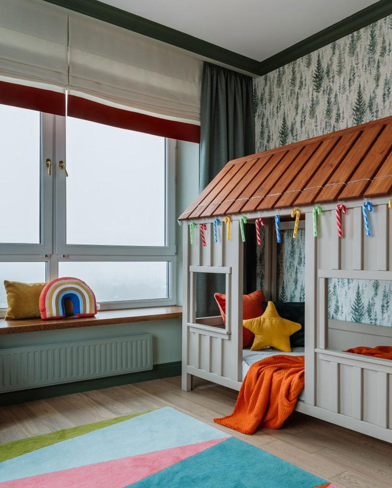 Красивый современный дизайн, продиктованный видом из окна: квартира в Москве (69 кв. м)